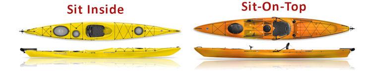 Sit Inside Kayak vs Sit-on-top Kayak