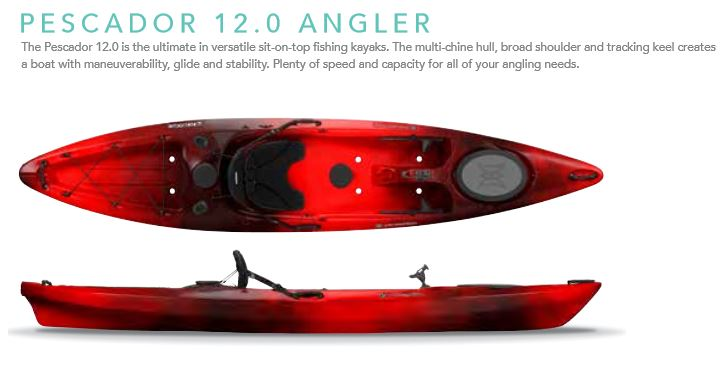 Pescador 12 Fishing Kayak